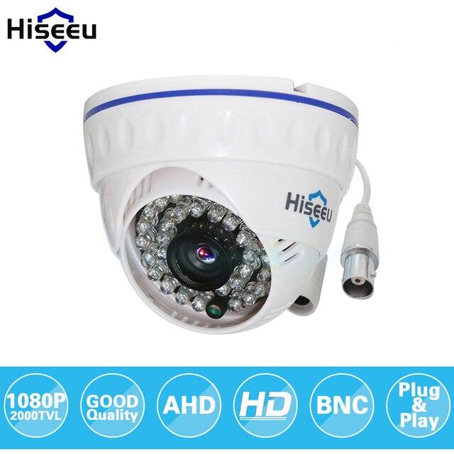 Hiseeu AHDH minicámara CCTV analógica de seguridad con domo familiar, cámara de visión nocturna de corte IR para interiores, Plug and Play, envío gratuito, AHCR512