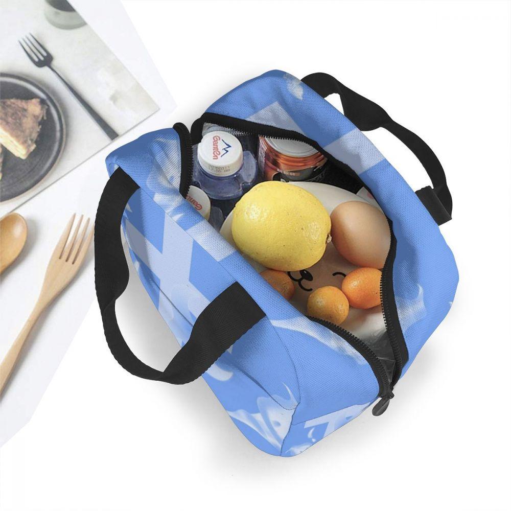 Бесшумные пакеты для обеда свежий изоляционный охладительный тюк тепловой Оксфордский пищевой ящик Лилия длинноцветковая печать пикника тепловой мешок для детей