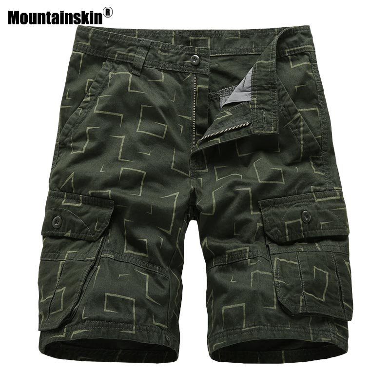 Mountainskin Mens Shorts 2020 Summer Men's Beach Casual Shorts Sports Running Fashion Colorful Loose Short Pants Male  SA901