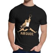 Moda o grande lebowski t camisa masculina hipster algodão orgânico camiseta em torno do pescoço