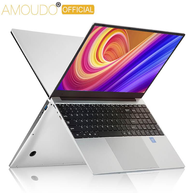 AMOUDO 15,6 pulgadas i7 portátiles de juegos 8G RAM 1TB 512G 256G 128G SSD portátil Ultrabook Dual Band WIFI Win10 ordenador portátil