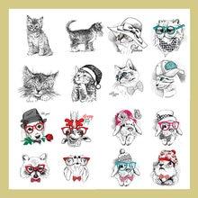 Прозрачные штампы azsg с милыми кошками для скрапбукинга «сделай