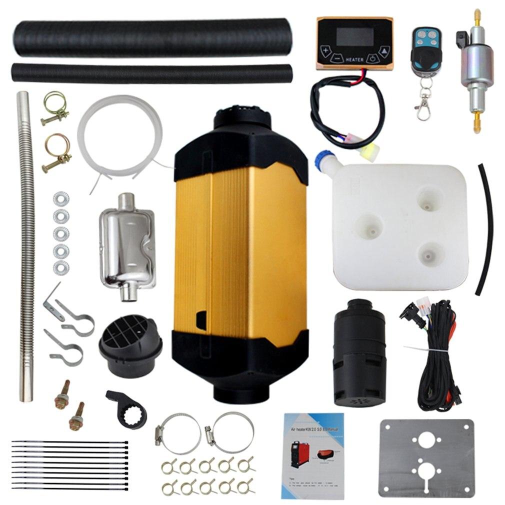 Calentador de coche 5Kw 12V calentador de aire estacionamiento con Control remoto pantalla Lcd para coche Rv Camper camión