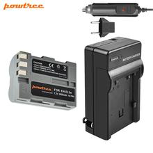 цена на 7.2V 2600mAh ENEL3e EN-EL3e  EN EL3e battery + Car charger For Nikon D30 D50 D70 D70S D90 D80 D100 D200 D300 D300S D700 L35