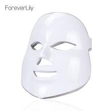 7 色ledフェイシャルマスク美容スキンケア若返りしわにきび除去顔美容セラピー美白締め楽器