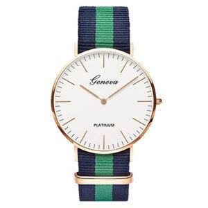 2019 классические полосатые часы унисекс с нейлоновым ремешком, лучшие Брендовые женские часы, повседневные лаконичные мужские часы, женские часы