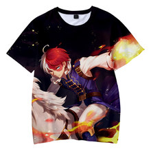 Hot Sale Anime Shoto Todoroki 3D T Shirt Men/Women Summer Fashion Harajuku Style Short Sleeve Round Neckpopular Hip-hop Tops
