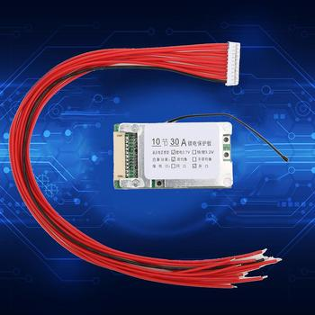 цена на s10S 36V 30A Battery Protection Board Li-ion Cell 18650 Battery Protection BMS Board With Balance Function