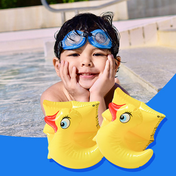 1 Pair Children Swimming Arm Ring Floats Flamingo Armbands Thick Animal Inflatable Swimming Arm Floater Trainer Pool Toy 1