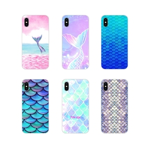 Cell Phone Case Cover Fashion Shell Mermaid Tail Bling For Apple iPhone X XR XS 11Pro MAX 4S 5S 5C SE 6S 7 8 Plus ipod touch 5 6(China)