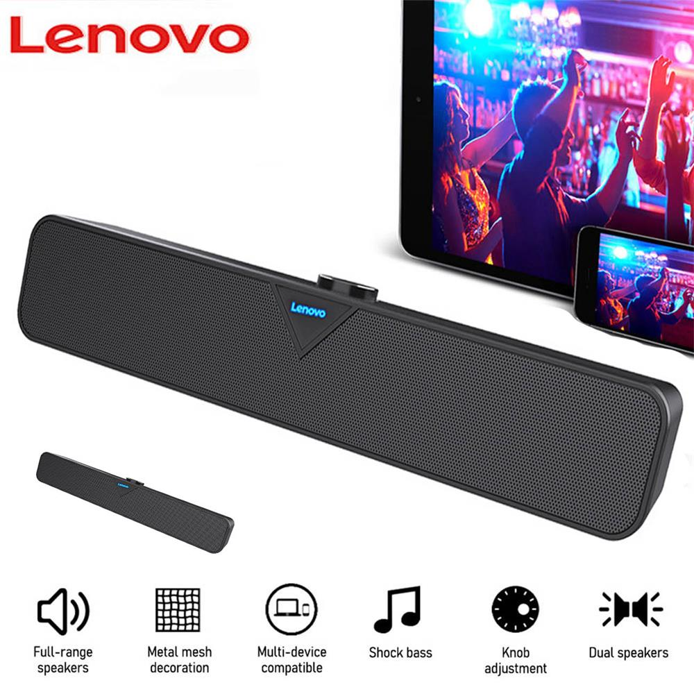 Lenovo L102  Bluetooth Speaker USB Powered Wired Computer Sound Bar Mini Soundbar Speaker Subwoofer For PC Tablet Cell Phone