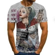 Camisetas de manga corta con temtica de terror para hombre, camisa informal, con para el verano, para ir a la moda, novedad