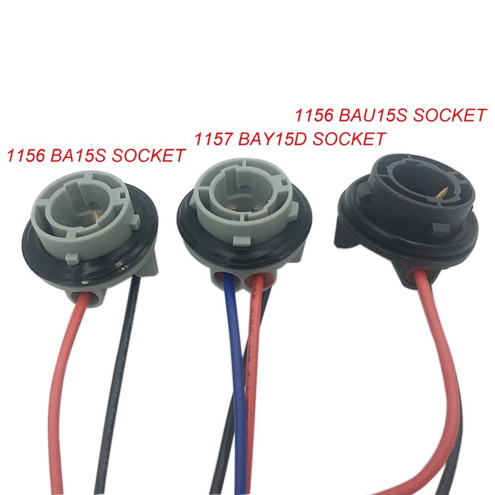 Адаптер для автомобильной светодиодной лампы YSY 1X 1156 BA15S BAU15S, гнездо разъема, предварительно Женский адаптер, держатель для 1157 BAY15D