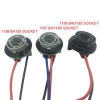 YSY-Adaptador de bombilla Led para coche conector de enchufe de precableado, soporte de adaptador hembra para 1156 BAY15D, BA15S BAU15S