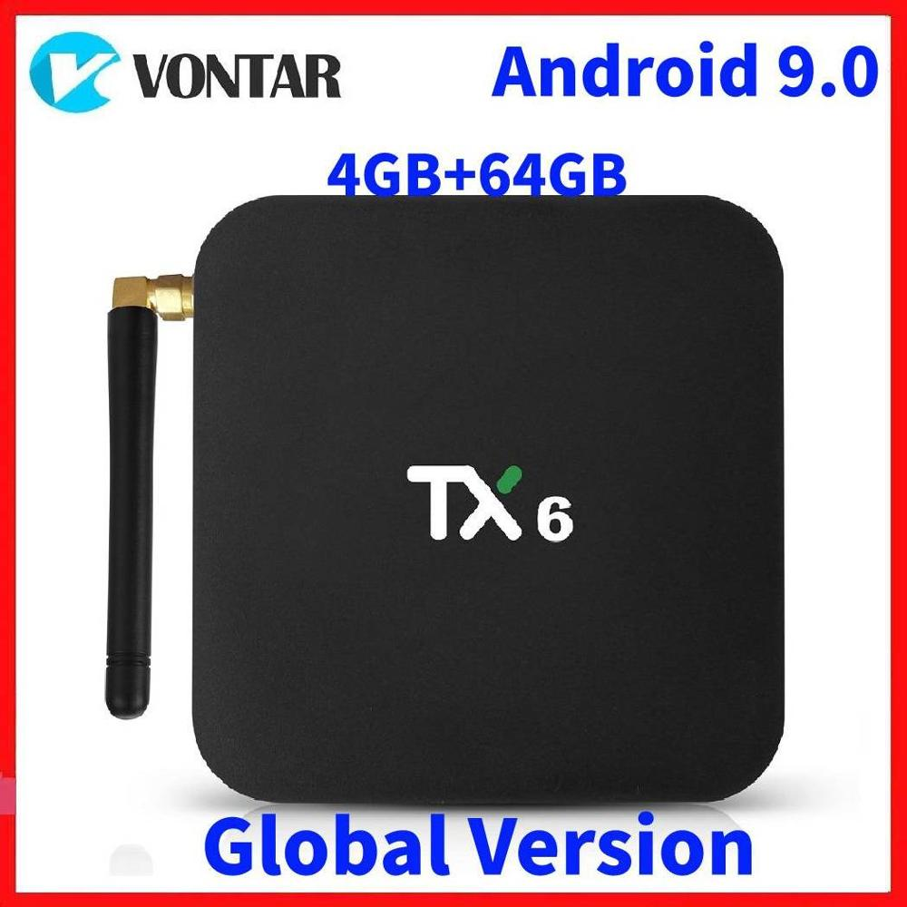 2019 4K Smart TV Box Android 9.0 TX6 Allwinner H6 4GB RAM 64GB ROM 2G/16G 32G BT 2.4G/5GHz Dual WiFi Media Player TX6 MINI