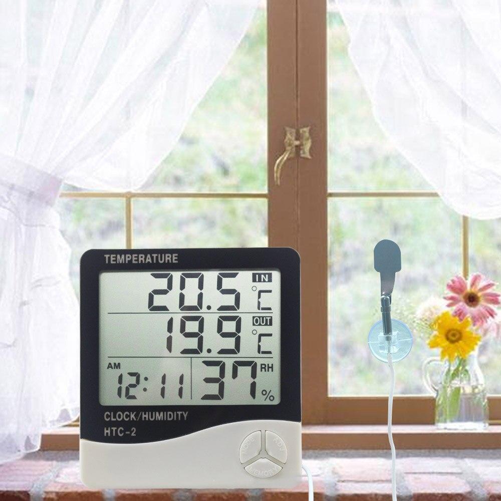 Цифровым термометром и гигрометром декоративные часы электронные ЖК дисплей Температура измеритель влажности, внутренняя Погодная станция напольные часы HTC 2 HTC 1|thermometer screen|lcd liquidlcd screen for mobile | АлиЭкспресс