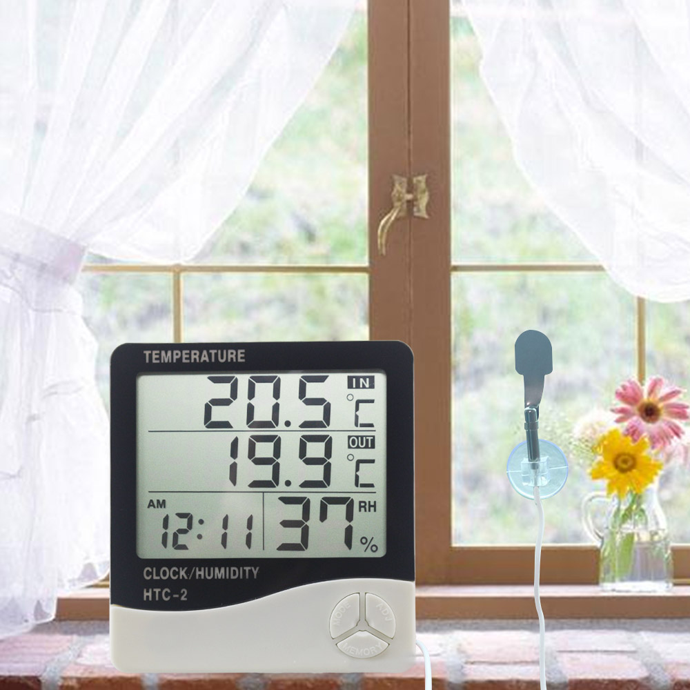 Ketotek Termómetro digital Higrómetro LCD electrónico Medidor de - Instrumentos de medición - foto 6