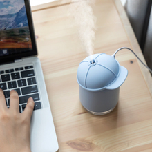 Funny Cap Ultrasonic Air Humidifier 7 Color Soothing Night Light USB Aroma Essential Oil Diffuser Silent Moistens Humidificador