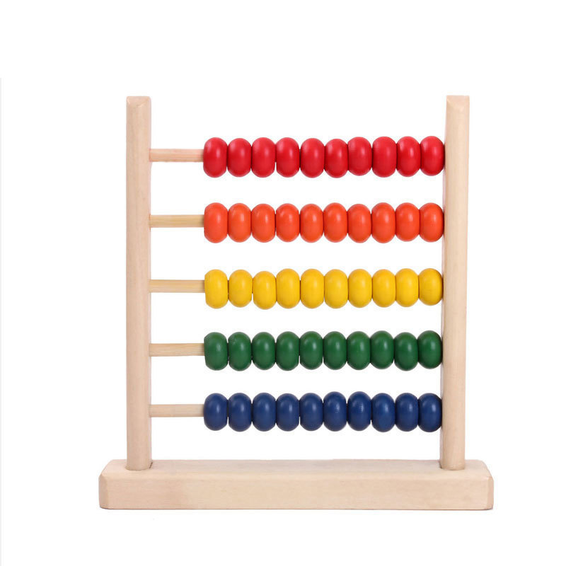 Dropshipping Abacus Montessori Calculating Beads Baby Math Wooden Toys Learning Educational Kids Toy For Children(China)
