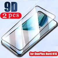 Funda protectora completa para oneplus Nord N10 N100 Clover 8 8T plus 7 7T pro 6 6T, película protectora de vidrio templado, 2/1 Uds.
