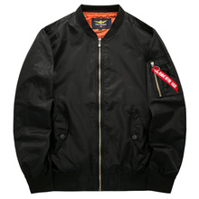цена на 2020 Zip Up Men Jacket Fashion Brand Slim Fit Coats Male Casual Jacket Mens  bomber jackets  pilot Jacket 4XL 5XL 6XL big size
