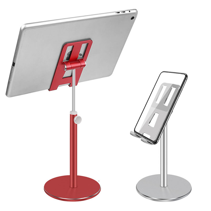 Aluminum Alloy Tablet Phone Holder For iPhone X Samsung Mobile Phone Adjustable Tablet Desktop Mount For iPad Air Pro 10.5 Stand