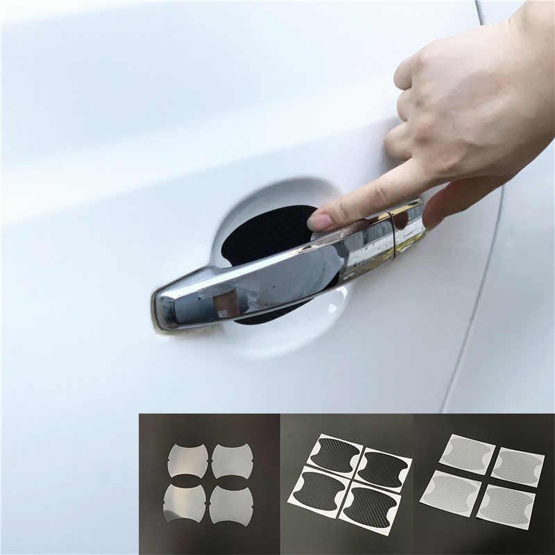 4 stuks Auto Deurklink Protector Sticker voor Hyundai ix35 iX45 ix20 iX25 i10 i20 i30 i40 HB20 Sonata Verna solaris Elantra Accent