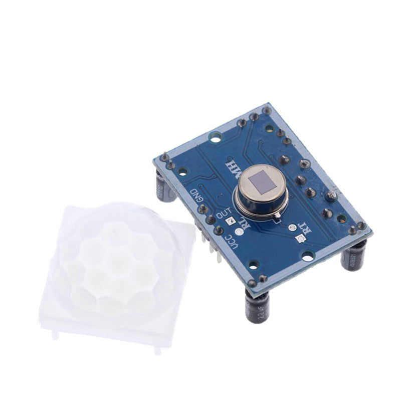 HC-SR501 התאם IR אלקטרי אינפרא אדום PIR חיישן תנועת גלאי מודול SR501