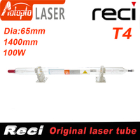 Co2 Reci T4 Laser Tube Co2 Glass Laser Tube 1400MM 100W Glass Laser Lamp for CO2 Laser Engraving Cutting Machine