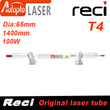Co2 Reci T4  Laser Tube Co2 Glass Laser Tube 1400MM 100W Glass Laser Lamp for CO2 Laser Engraving Cutting Machine dy13 co2 laser power supply for reci s4 and z4 co2 laser tube