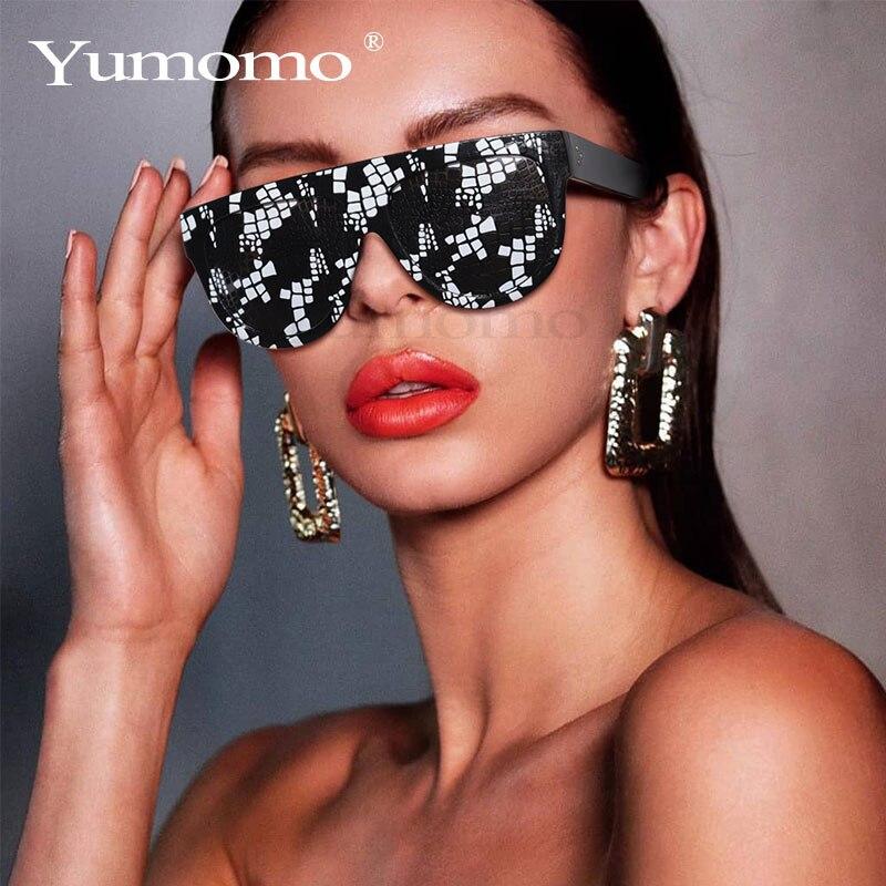 Sexy Square Sunglasses Ladies Fashion Python Pattern Oversized Sunglasses Men And Women Black Light Transmission Lunette Femme
