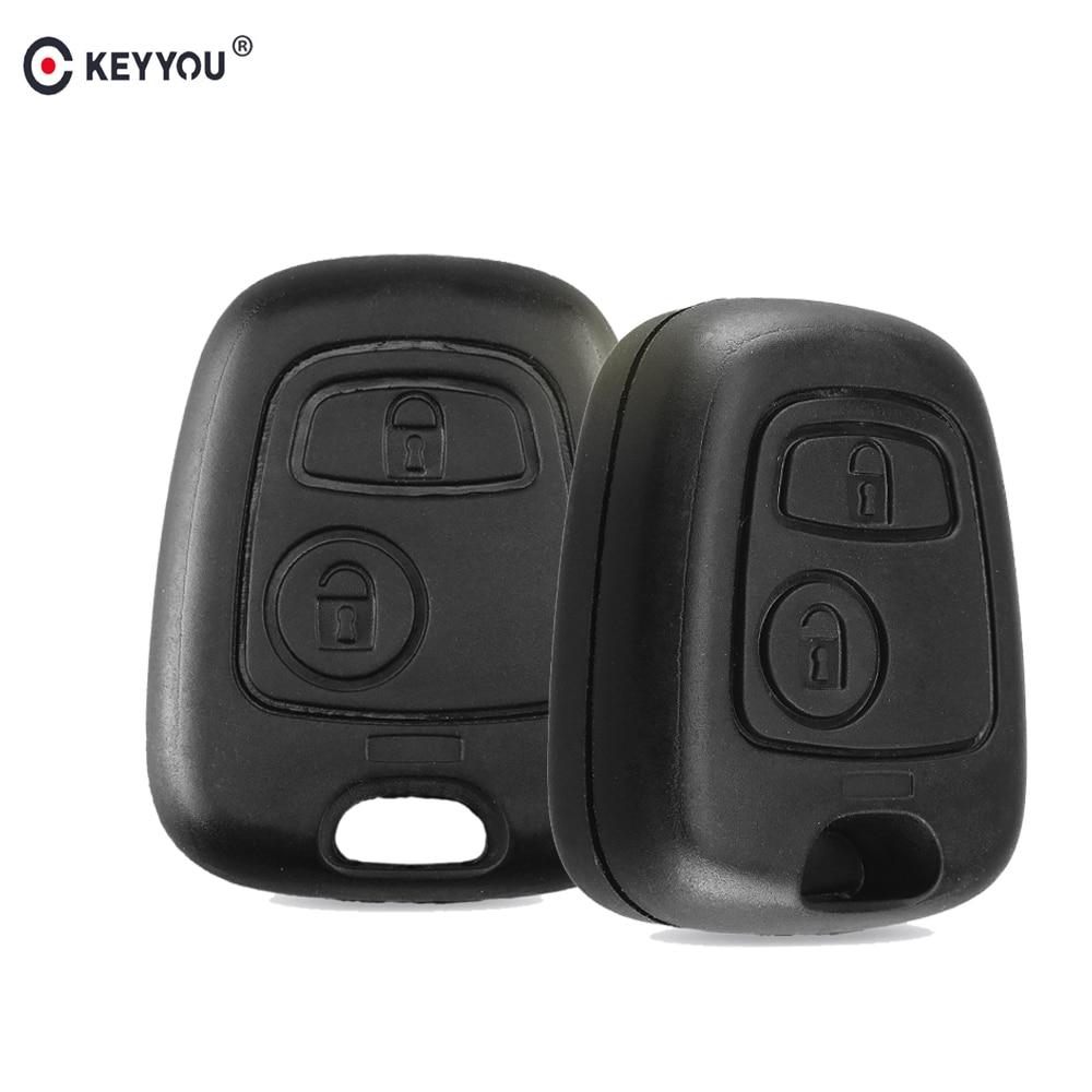 KEYYOU No Blade 2 Button Remote Car Key Case Shell Fob Cover For Citroen C1 C2 C3 C4 XSARA Picasso Cover Replacment