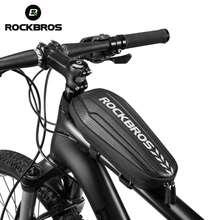ROCKBROS sacoche de vélo électrique, imperméable, avec coque rigide, pour cadre avant de Scooter, vtt, vélo électrique, pliable, multifonctionnel