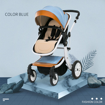 Mother Assistant 3 in 1 Luxury Baby Stroller 360 Degree Rotate Carriage Frame PU Pram EU Safety Car Seat with Bassinet Newborn image