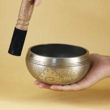 Непальская тибетская Поющая чаша ручной работы Набор декоративных настенных блюд резонансная исцеляющая медитационная чаша для йоги с молотком