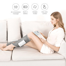KEEPFIT Leg Massager With Wireless Air Compression Rechargeable Completely Wrapped Relieve Calf Muscle Fatigue Massage Relax