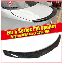 For 5 series F10 Rear trunk Spoiler Wing AEM4 Style Forging Carbon Fiber 520i 525i 530i 535d 535i 550i  tail 10-17