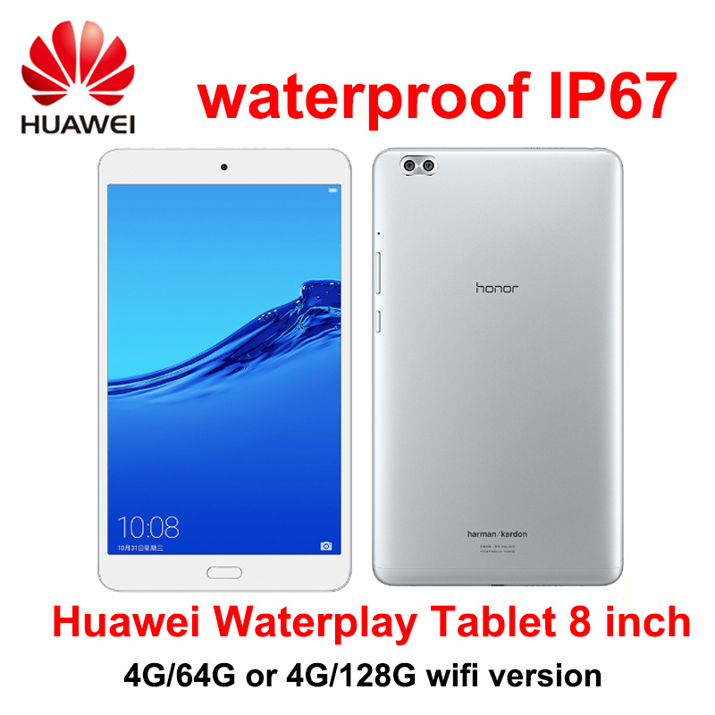 Huawei Honor Waterplay Tablet 8.0 Inch 4GB RAM 64G /128G ROM Android 8.0 Octa Core WIFI Version OTG Fingerprint Face Recognition