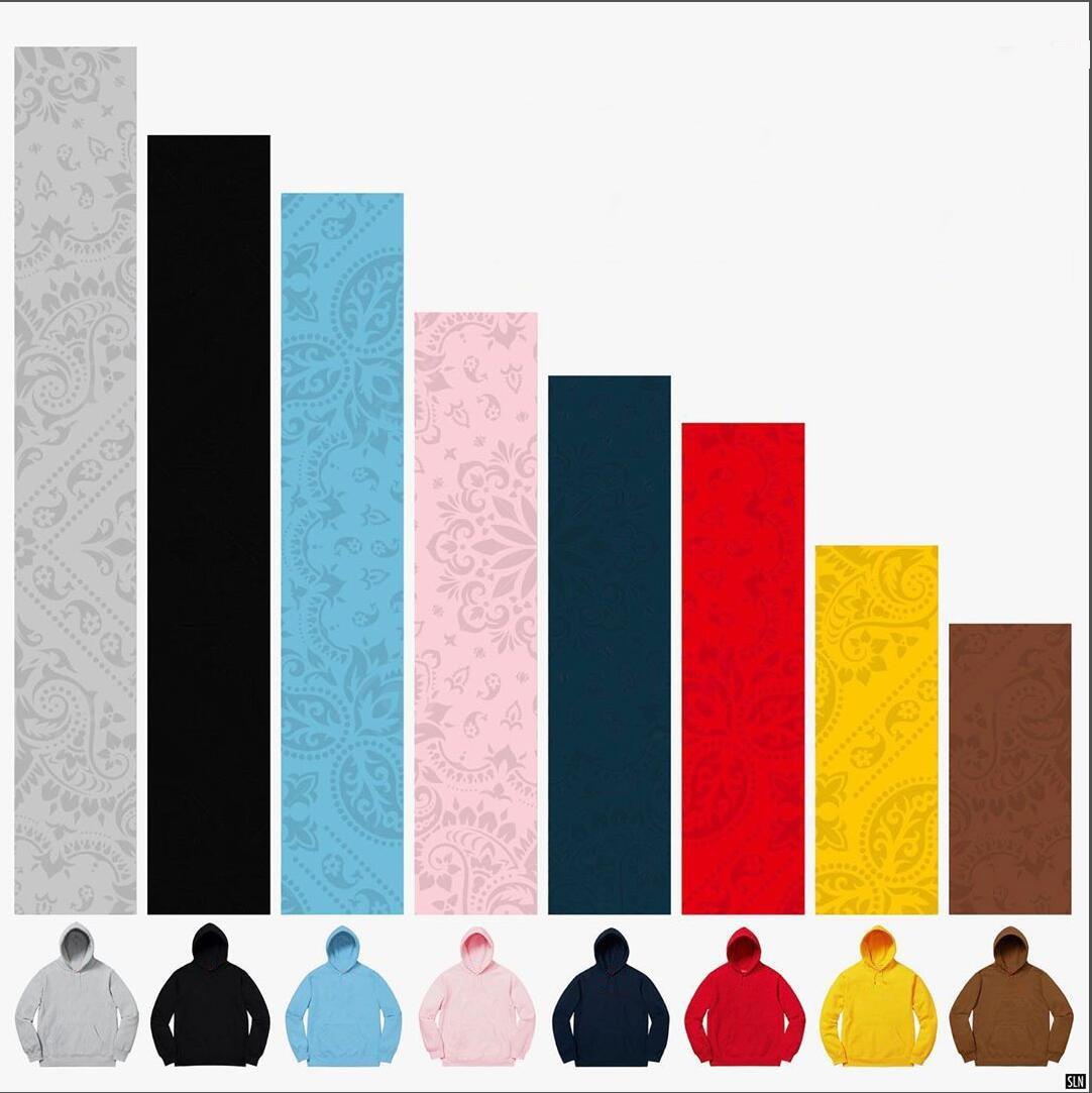 2020 Bandana Bogo Embroidery Hooded Women Men Sweatshirt Hoodie Skateboard Hiphop Streetwear Oversized Hoodie Pullover
