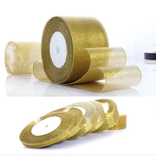 3cm Gold Silver Organza Ribbon 6mm 25Yards Glitter Embroidered Onions Ribbons Cake Decor  DIY Craft Wedding Supplies Trim Satin|Party DIY Decorations| |  - AliExpress