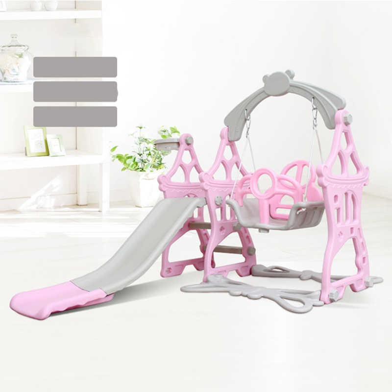 พลาสติกใหม่เด็กสไลด์และ Swing เด็กบ้านสนามเด็กเล่นสไลด์พลาสติกในร่มเป็นมิตรกับสิ่งแวดล้อม Slider Swing จัดส่งฟรี