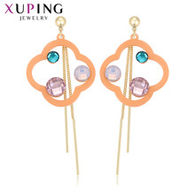Xuping Dangle Stylish Elegant Shinning Earrings for Women Fashion Jewelry S925 Silver Colorful Party Anniversary Gift W-BLE-1070(China)