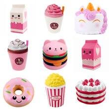 Jouets Anti-Stress, Hamburger, Milkshake, donuts, pop-corn, Anti-Stress, blagues pratiques, cadeau Surprise