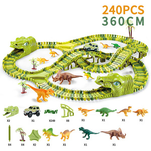 Hot Toy for children's railway Magic Track Racing Dinosaur Toy cars DIY Flexible Track model car Educational Toys for Boys Gift
