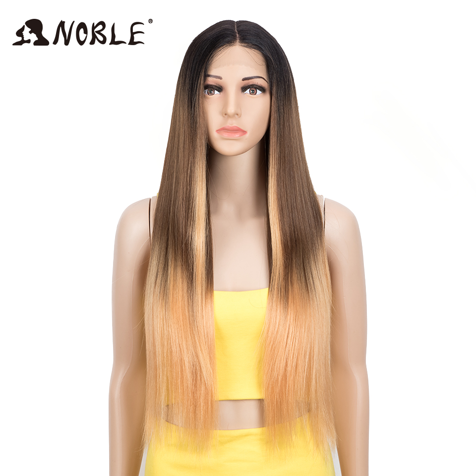 Noble Cosplay Synthetic Lace Front Wig 30 Inch Straight Hair Lace Part Wig Blonde Cosplay Wigs Long Wigs For Wome Lace Front Wig