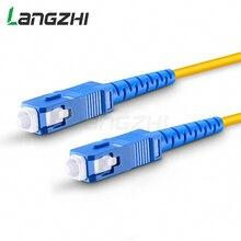 10 шт. SC UPC to SC UPC Simplex 2,0 мм 3,0 мм ПВХ одномодовый волоконный патч кабель Соединительный волоконный патч корд Fibra Optica Ftth