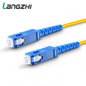 Image 1 - 10 шт. SC UPC to SC UPC Simplex 2,0 мм 3,0 мм ПВХ одномодовый волоконный патч кабель Соединительный волоконный патч корд Fibra Optica Ftth