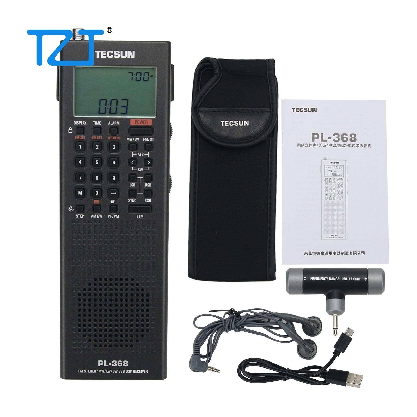 Radio Tecsun pl-368 64-108mhz DSP Demodulation Usb-Charge Stereo Digital Full-Band