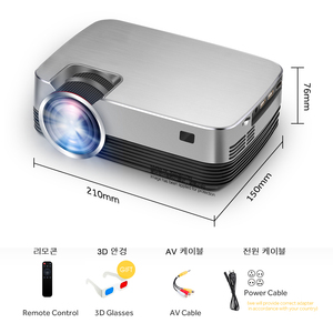 Image 5 - AUN MINI LED Projector Q6/Q6s, 2 Years Hardware Warranty. 3D Video Projector for Full HD Home Cinema. 30,000 Hours LED Life,HDMI