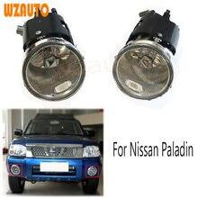 1 conjunto rh lh amortecedor dianteiro do carro luzes de nevoeiro nevoeiro dia luz running drl lâmpada condução para nissan paladin
